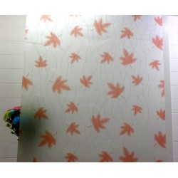 Autumn Leaves Frosted Decorative Window Film