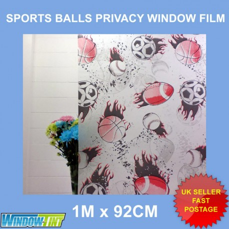 Sports Ball Frosted Decorative Window Film