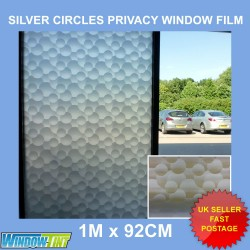 Silver Circles Privacy Frosted Window Film