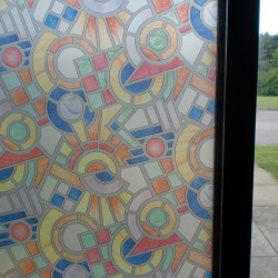 Stained Glass Effect  Privacy Decorative Window Film