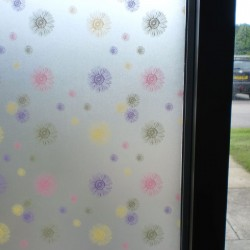 Frosted Window Film Floral Multicolour Privacy Decorative