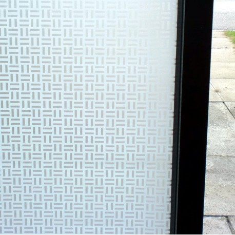 Frosted White Patterned Privacy Decorative Window Film
