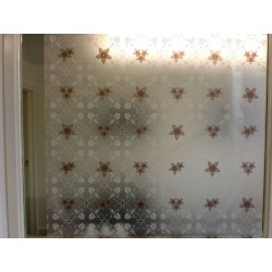 Floral Frosted Privacy Window Film