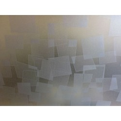 Silver Geometric Shapes Frosted Privacy Window Film