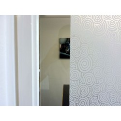 White Swirls Frosted Privacy Window Film