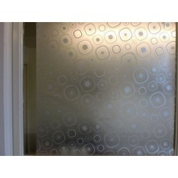 Silver Circles Frosted Privacy Window Film