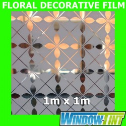 Floral Decorative Privacy Home Window Film