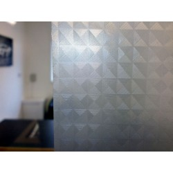 Squares Frosted Glass Privacy Window Film