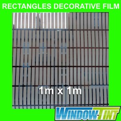 Rectangles Decorative Privacy Home Window Film
