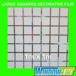 Large Squares Decorative Privacy Home Window Film