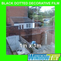 Black Dotted Decorative Privacy Home Window Film