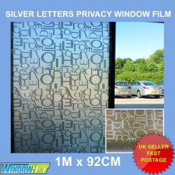 Silver Letters Decorative Window Film