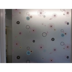 Pastel Floral Frosted Window Film