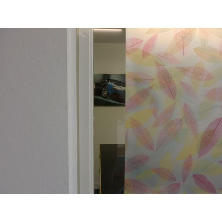 Colourful Autumn Leaves Frosted Window Film