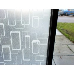 White Shapes Frosted Window Film