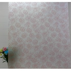 Pink Roses Frosted Privacy Window Film