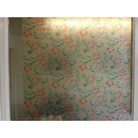 Stained Glass Effect Mosaic Frosted Window Film