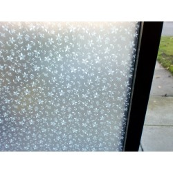 White Petals Floral Decorative Frosted Window Film